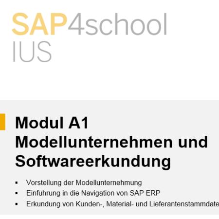 Modul A1 – Modellunternehmen und  Softwareerkundung