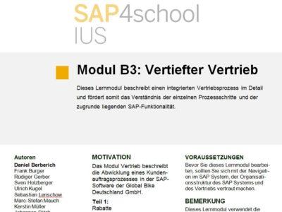 Modul B3 – Vertiefungsmodul Vertrieb